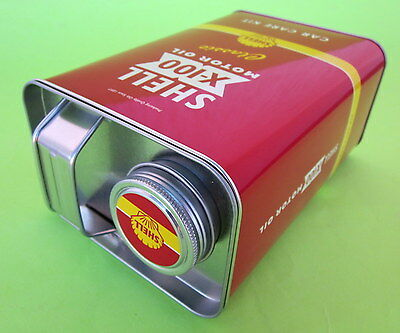 Rare Shell X100 Motor Oil Rare Car Care Kit Tin Metal Box Collectible Retro Gift