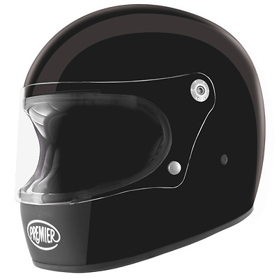 Premier Trophy U9 BM Matt Black Motorcycle Motorbike Full Face Helmet