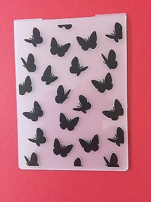 NEW• BUTTERFLY FLUTTER EMBOSSING FOLDER For Use With Sizzix or Cuttlebug