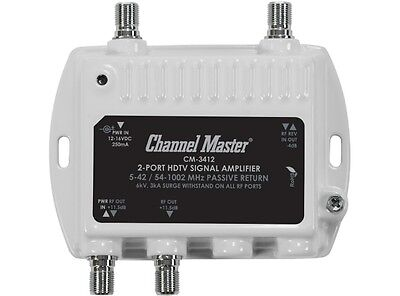 CM-3412 Channel Master Antenna Booster Dist Amplifier 11.5dB Gain per Output