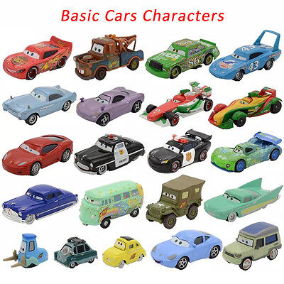 MT Pixar Cars Basic Characters Lightning McQueen Diecast 1:55 Loose Kids Toy New