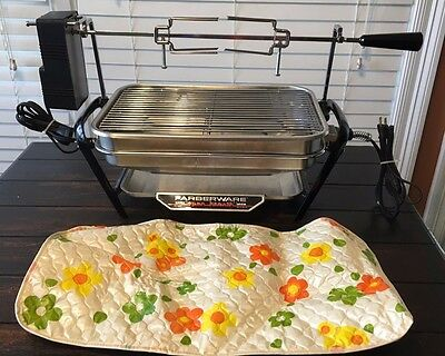EXC Vtg Farberware Open Hearth Tabletop Electric Rotisserie Broiler Grill COVER