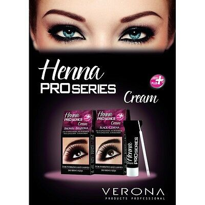 VERONA HENNA CREAM Eyebrow Eyelashes Black/Brown/GRAPHITE ...