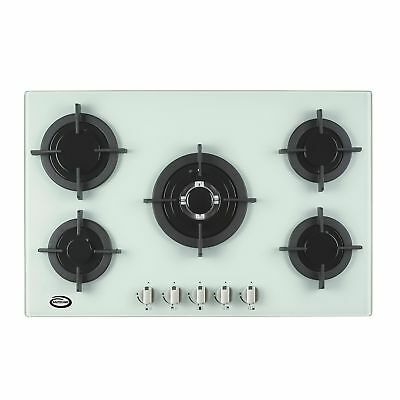Bautechnic AGCG7052WH White Gas-on-Glass Hob | 70cm