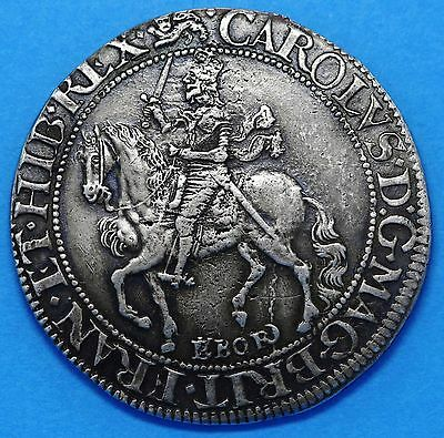 Charles I Silver Halfcrown York Type 6 mm lion S2868 Virtually EF.
