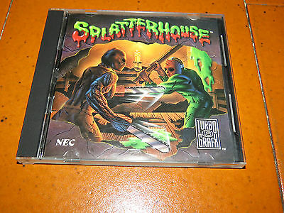 Splatterhouse CASE Only TurboGrafx-16 TurboChip Turbopad 1990 Namco SOLO Case