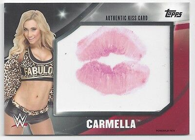 2016 Topps Wwe Divas Revolution Kiss Card Carmella #35/99