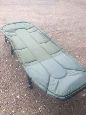 Portable Carp Fishing Bed Chair Bedchair Camping 6 Adjustable Legs *SALE*