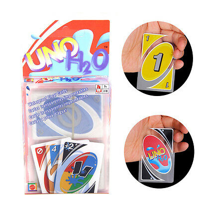 Standard Waterproof 108 UNO H2O Playing Cards Game Family Travel Instruction Fun