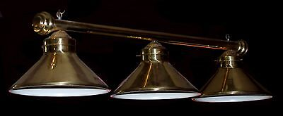 Vintage Brass Billiard Hanging Light Fixture