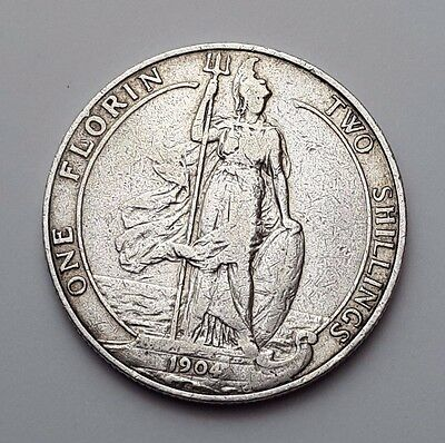1904 - Silver - Two Shillings / Florin Great Britain - King Edward VII - UK Coin