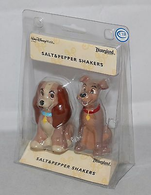 Disney Lady and the Tramp Salt and Pepper Shaker Set Ceramic Factory Sealed NEW