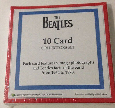 NEW The Beatles 10 Card Collectors Set 1962-1970 Vintage Photos and Facts SEALED