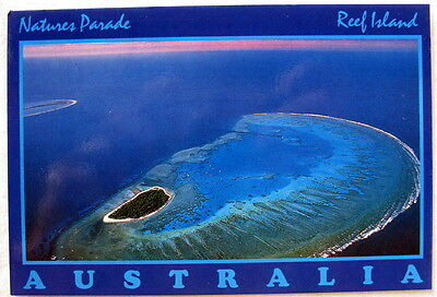 Coral Cay and Reef Island  Australia  - unmarked postcard -