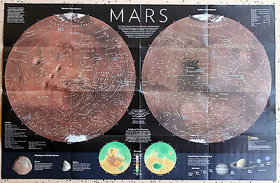Mars / Colonizing Mars   National Geographic Map / Poster Nov 2016