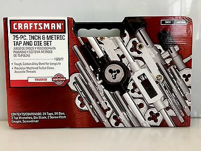 Craftsman 9-52377 75pc Inch & Metric Tap & Die Set 52377
