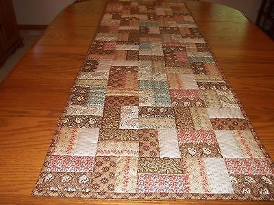 "Table Runner, Handcrafted & Hand Quilted, Andover Fabric, New,  20"" x 58 1/2"""