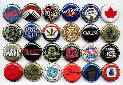 Canadian beer bottle cap collection - 24 pieces ALL DIFFERENT