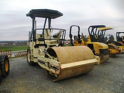 """1998 Ingersoll Rand SP48 66"""" Smooth Double Drum Roller Compactor, Only 6103 Hrs"""
