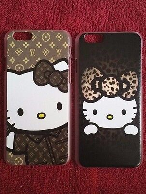 Hello Kitty Design iPhone 6 Cover Case Cheetah/Leopard Symbols Cute Cat