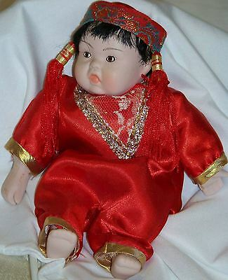 Vintage Bisque Oriental Doll (Japanese?) Moveable Arms and Legs