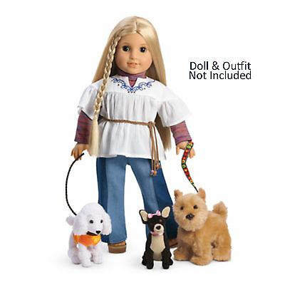 American Girl JULIE DOG WALKING SET for Dolls Chihuahua Terrier Poodle Leash NEW