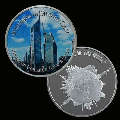 WR Middle East Building Jumeirah Emirates Towers Hotel Commemorative Silver Coin