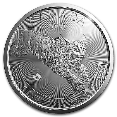 LYNX 2017 $5 Canada once argent pure ounce oz silver 5 dollars serie predateur