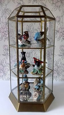 Vintage Franklin Mint Birds of the World Collection Complete with Glass Display