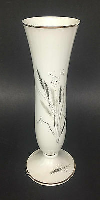 Rosenthal Germany Flower Vase Date Marked 1957 Bullrush Motifs