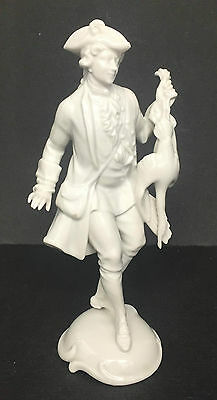 The Huntsman - Rosenthal White Glazed Porcelain Figurine Model 870 Hugo Meisel