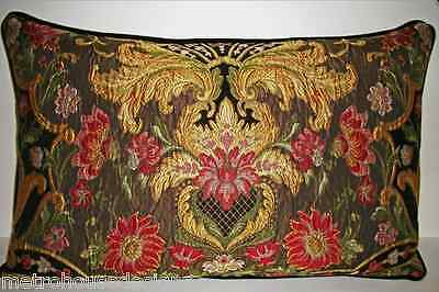High End Aubusson Tapestry Chenille Lampossa Lumbar Pillow