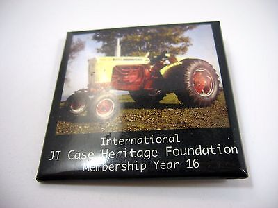 Vintage Collectible Pin Button: JI Case Heritage Foundation Antique Tractors 16