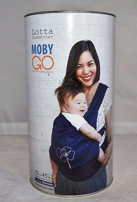 Moby Wrap Go Baby Carrier by Lotta, BLOMSTER - Dark Purple (A)