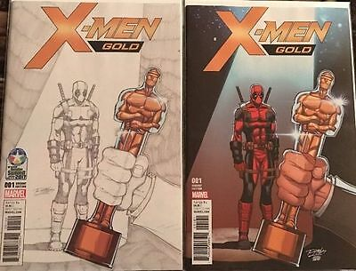 "X-men Gold #1 2 Ron Lim Covers NM Marvel ""Controversial ARDIAN SYAF art"""
