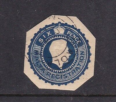 Malta George V I 6d postal stationary cut out