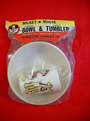 Mickey Mouse Cereal Bowl & Juice Tumbler