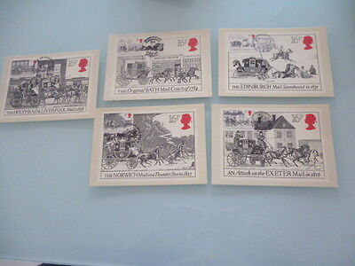 great britain 1984 PHQ cards Series Royal Mail    x 5  full mint set