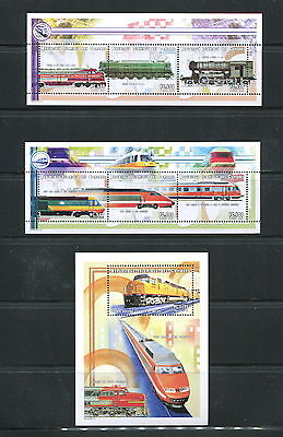 Comoro Islands #941-3  trains  1999 sheets  MNH  D762
