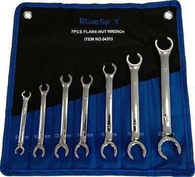 7pc Flare Compression Nut Spanner Wrench Set 8 - 24mm BlueSpot 04313