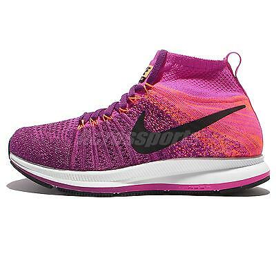 Nike Zoom Pegasus All Out Flyknit GS Purple Pink Kids Running Shoes 859622-500