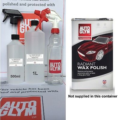 Autoglym Radiant Wax Polish 1L 1 Litre (Restore Protect Car Polish GENUINE)