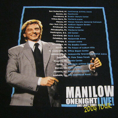 2004 BARRY MANILOW One Night Live One Last Time 2-sided concert tour shirt photo