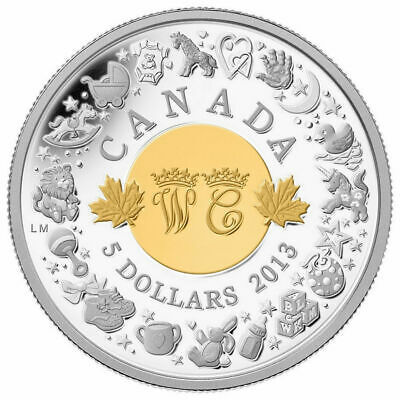 2013 Canada 5 Dollar Birth of Royal Infant Prince George 9999 Fine Silver Coin