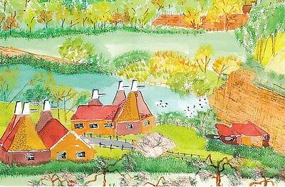 Oasthouses by a Pilgrims Hospice Patient Postcard Unused VGC