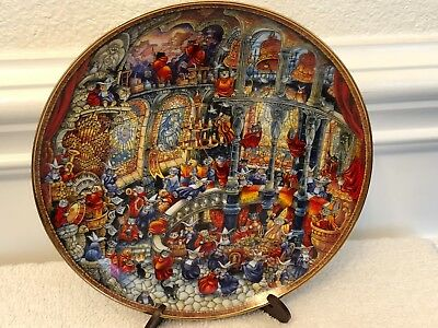 FRANKLIN MINT Limited Edition Plate No. HB9788 - Holy Cats by Bill Bell