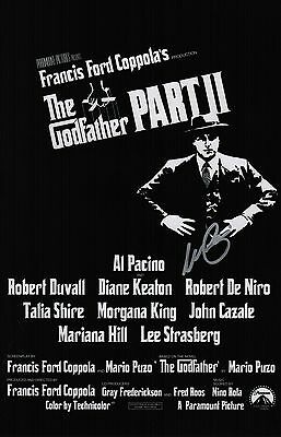 Al Pacino Signed The Godfather Part II 11x17 Movie Poster COA