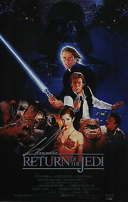 George Lucas Signed Star Wars - Return Of The Jedi 11x17 Movie Poster COA