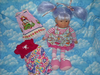 """Corolle LES DOLLIES 16"""" DOLL PLUS  DOLL CLOTHES For Soft Body dolls"""