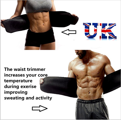 Uk Best Waist Abdominal Shaper Neoprene Slimming Sweat Belt Waist Sauna Band Bb